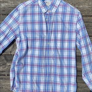 Sz M J.Crew sun washed oxford button down